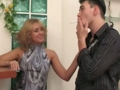 Russian milf whore seduces, copulates and groans