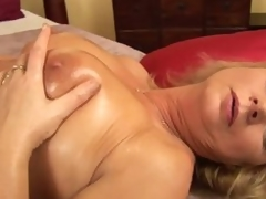 Concupiscent aged woman Rosalyn pleases herself