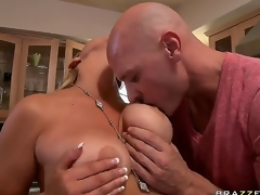 The appetizing pornstar Abbey Brooks with large natural tits demonstrates their charms for Johnny Sins. He is concupiscent and her melons fall into his hands. Have a fun this flawless video!