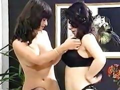 Lesbians Milking