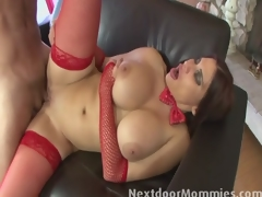 Big breasted older santa slut fucked