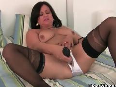 British mums having sexy solo sex