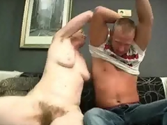 Oldie caping onto A huge dick