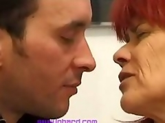 Redhead mature analed hard