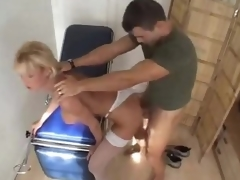 Doctor fucks his hot blonde patient hard